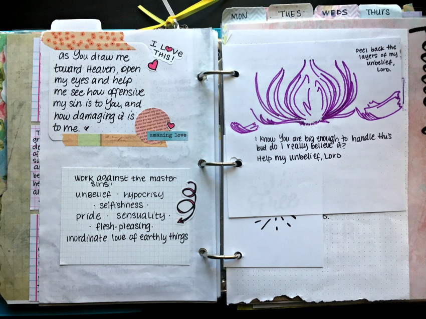 Stone Soup for Five: What's in my prayer binder? The first