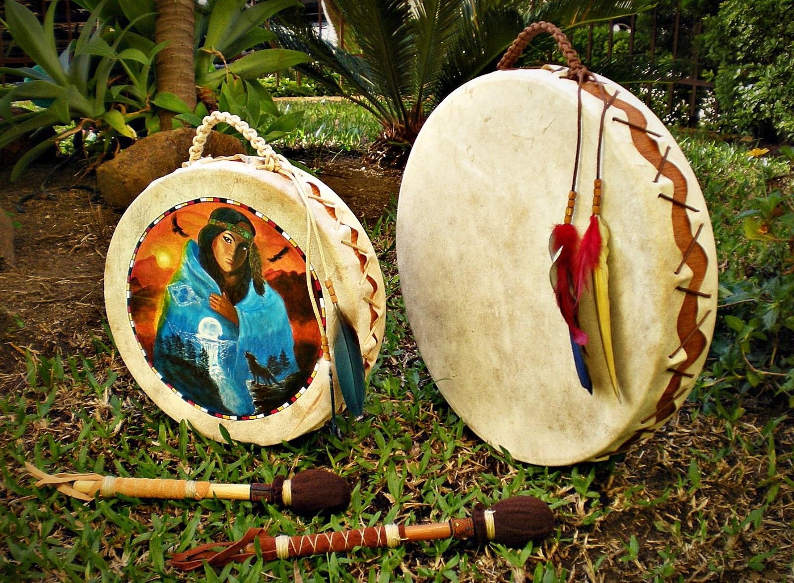 Artesãos Ou Artesaos ~ Wakan Wood Artesanato Xam u00e2nico Tambores xam u00e2nicos modelo Cherokee Lindos!!!