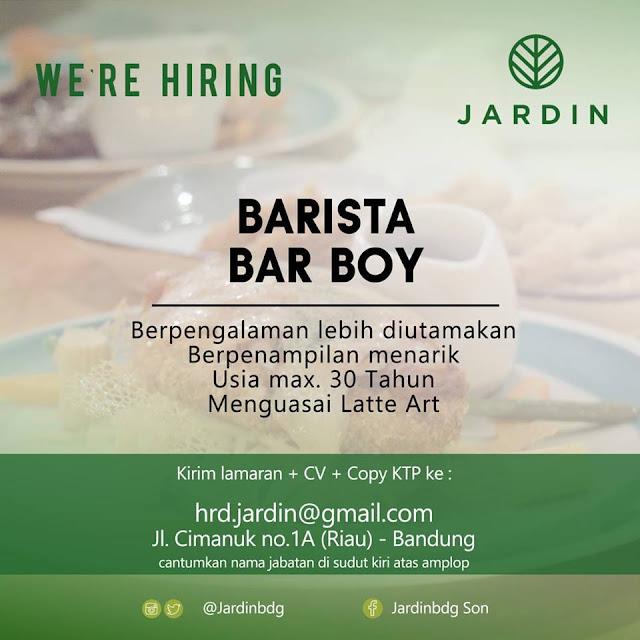 Lowongan Kerja Barista Jardin Bandung