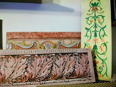 Murales trompe l 39 oeil e decorazione pareti e camerette for Fregi decorativi