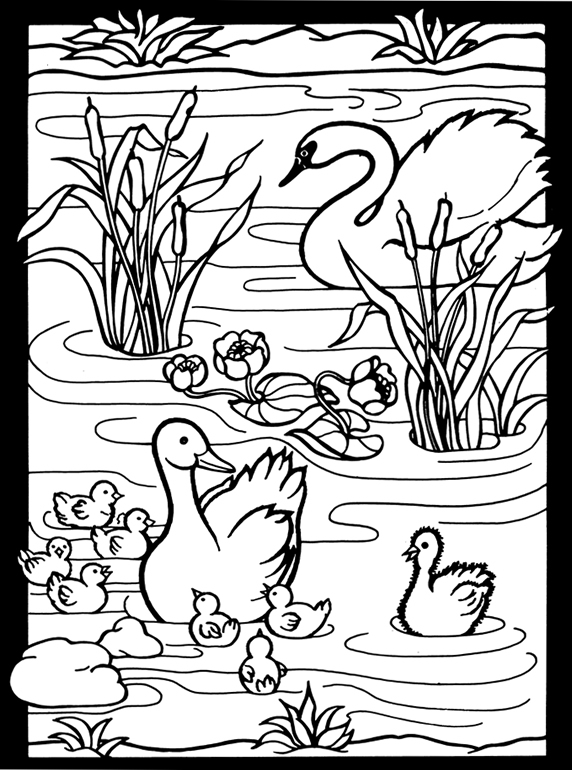ugly duckling coloring page - photo #49