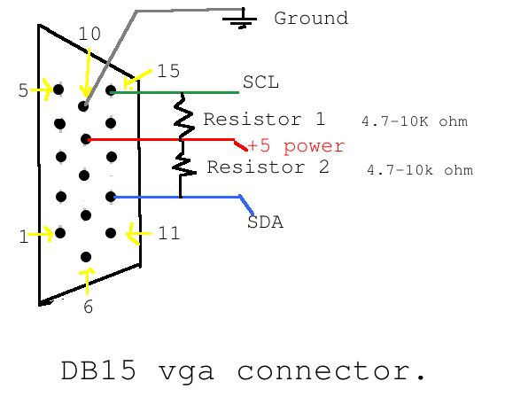 vga port calling arduino