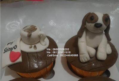 Cupcake Unik Penggemar Anjing Beagle