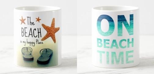 Beach Design Photo Mugs