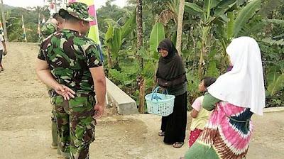 ''Sampai Kapanpun Kami Teringat Karya Besar TNI di Desa Kami ''