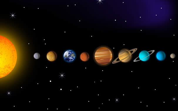 los planetas y sus divisiones en astrologÍa sistema solar