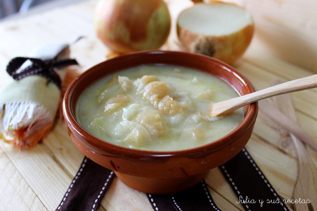 Sopa de leche con cebolla. Julia y sus recetas