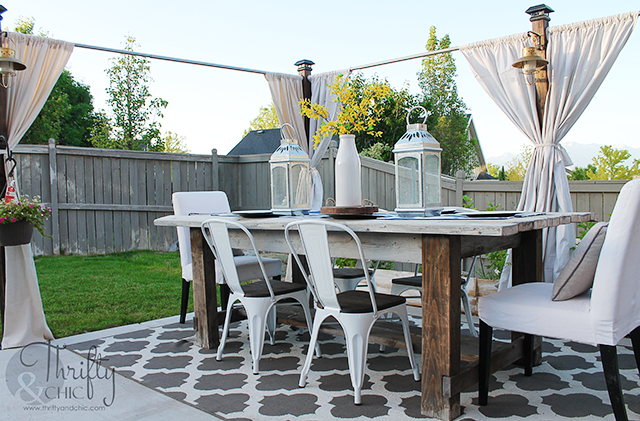 Thrifty and Chic - DIY Projects and Home Decor on Patio Decor Ideas Cheap id=72117