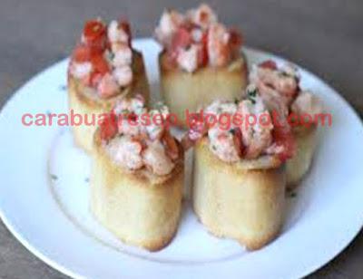 Foto Resep Bruschetta Udang Pizza Hut Sederhana Spesial Asli Enak