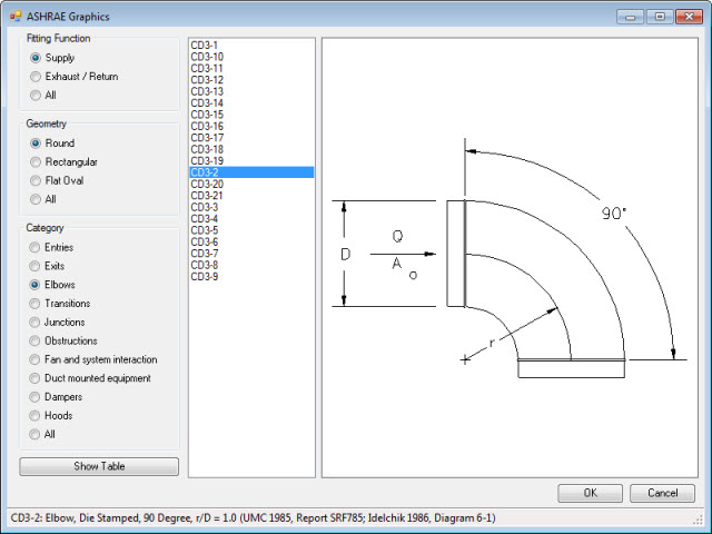 Revit Add-Ons: Free Duct Fitting Table Viewer Add-in for Revit