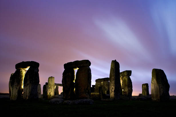 Stonehenge Photos - Purple Sunset