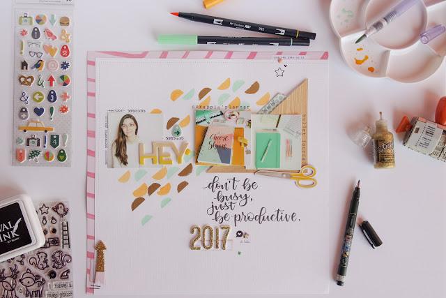 scrapbooking layout 2017 by kushi | www.kkushi.com