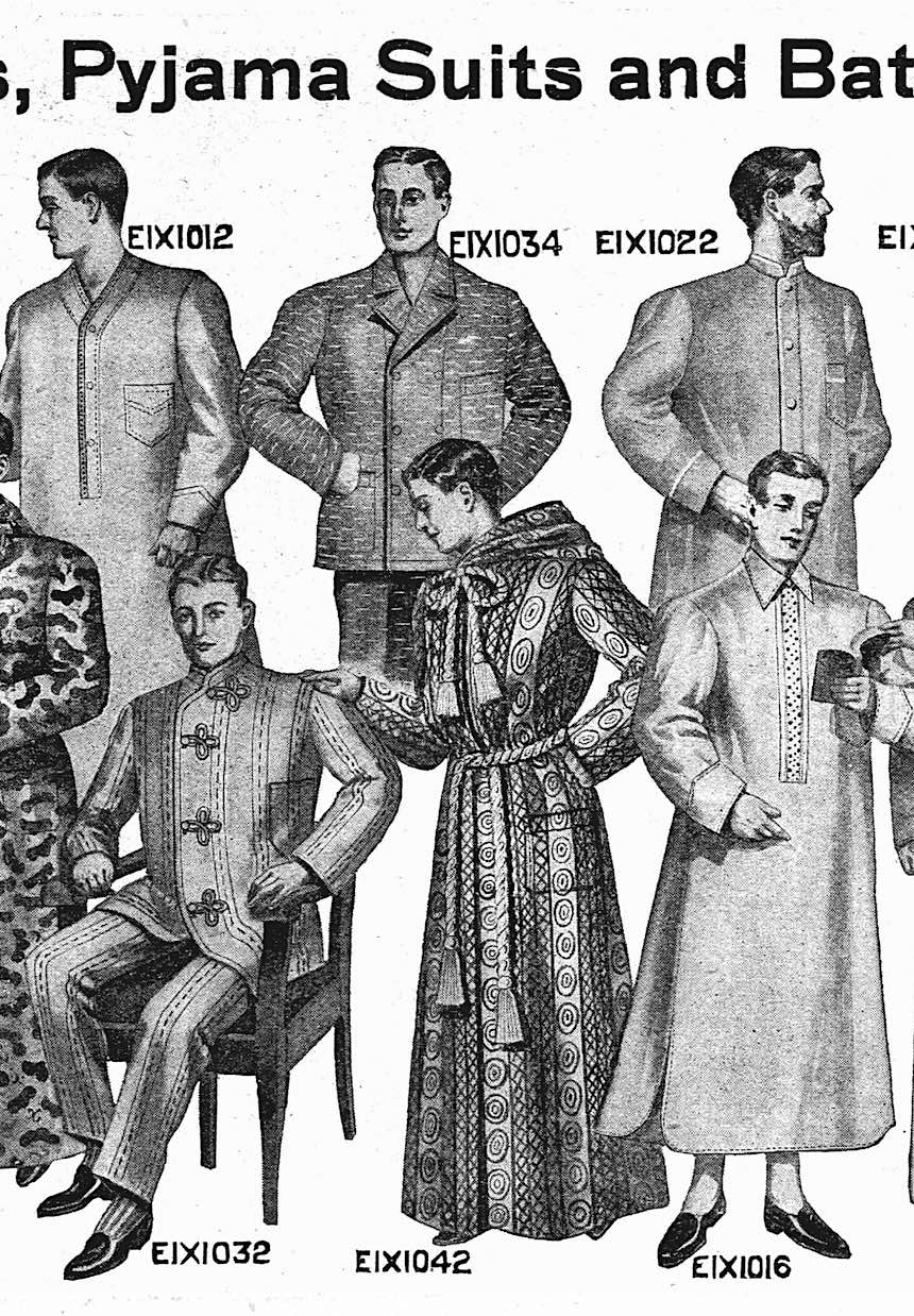 1907 men's sleepwear from a catalog