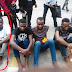 Burnaboy's manager and Unilag students hired to rob Mr 2kay paraded (Photo)