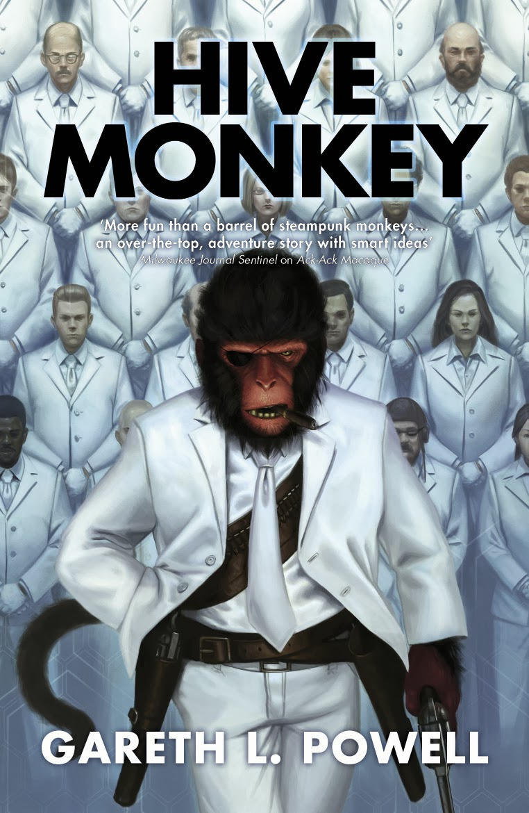 Gareth L  Powell: Five Things I Learned Writing Hive Monkey – Chuck