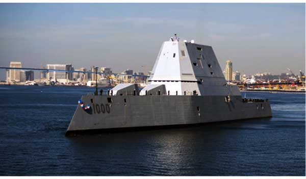 USS Zumwalt (Source: SNAME public tour flyer)