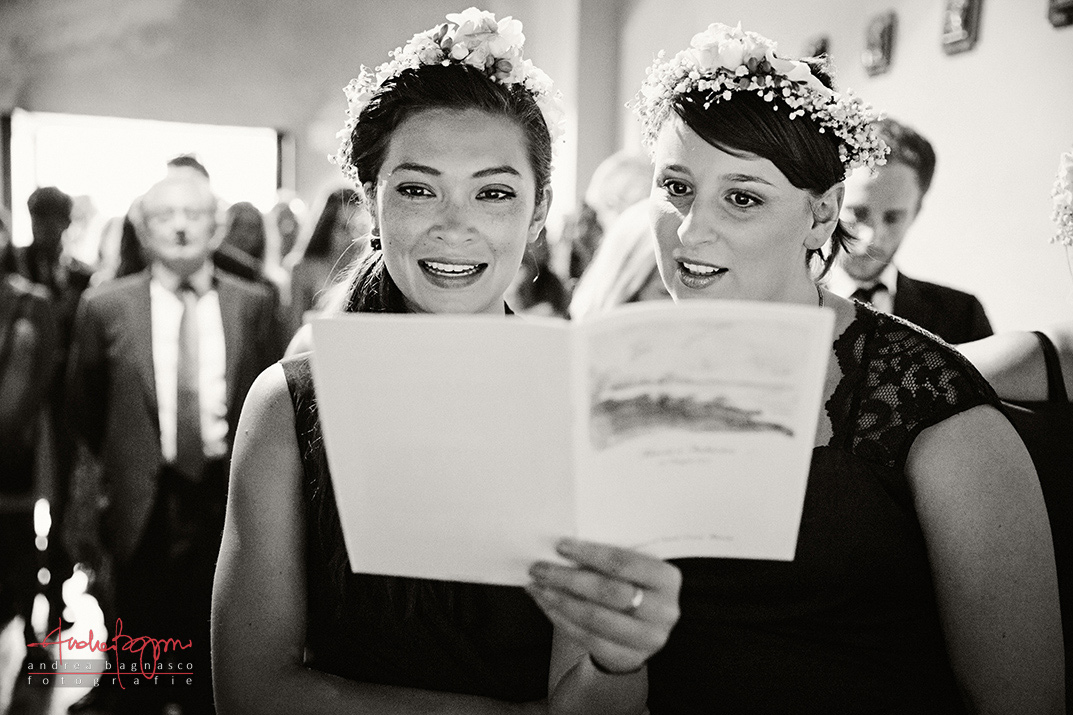 bridesmaids Italy documentary wedding photographer