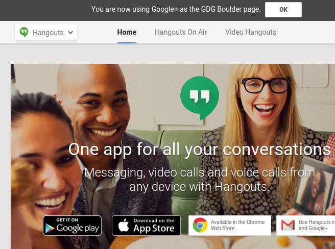 Google Chrome Store Hangouts