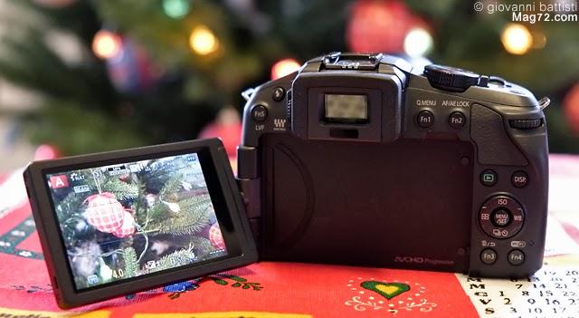 Fotografia del monitor della Panasonic G6