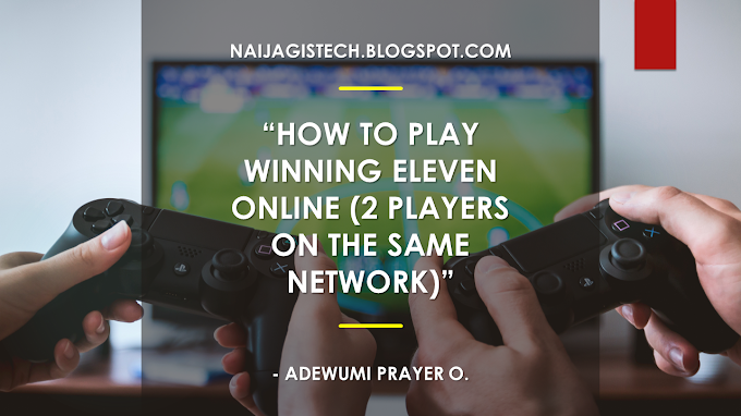 How to play Winning Eleven online (2 players on the same network)