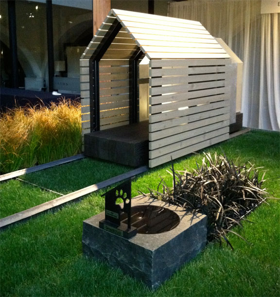 Barkitecture 2012 photos of the luxe doghouse garden for Architecture and design dog house