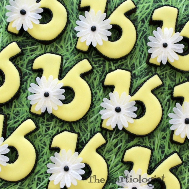 Flower Sweet Sixteen Cookies