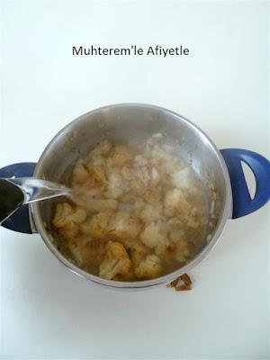 karnabahar çorbası resmi