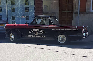 Lamb's Ltd liveried Triumph Herald pickup - photo John Holmes