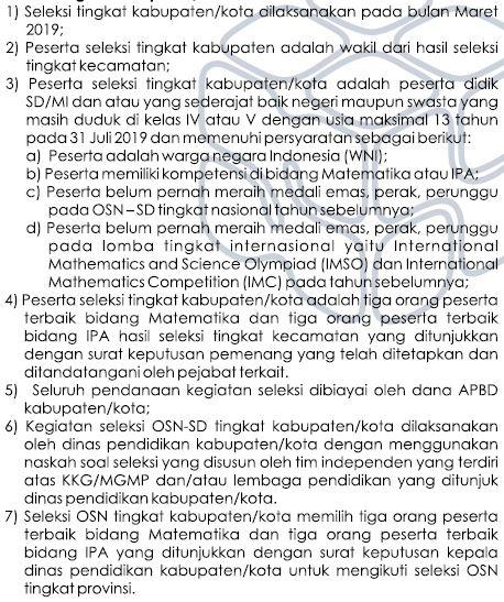 Seleksi OSN SD/MI Tahun 2019 Tingkat Kabupaten/Kota-https://riviewfile.blogspot.com/