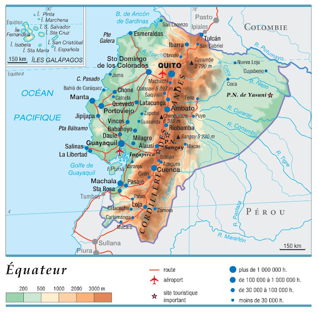 Carte simple de l'Equateur