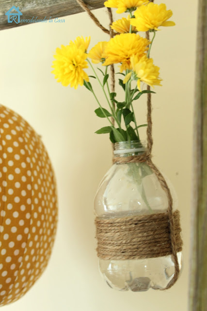 how to upcycle water bottles in home decor