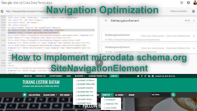Optimasi Menu Navigasi Website
