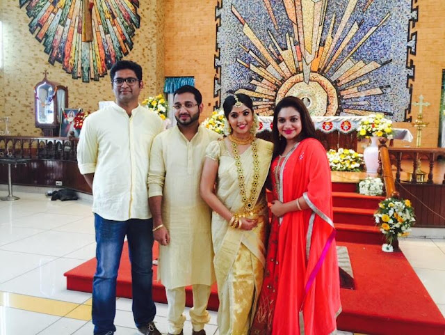 Actress Muktha & Rinku Tomy with Rinku Tomy's sister Rimy Tomy and husband Royce