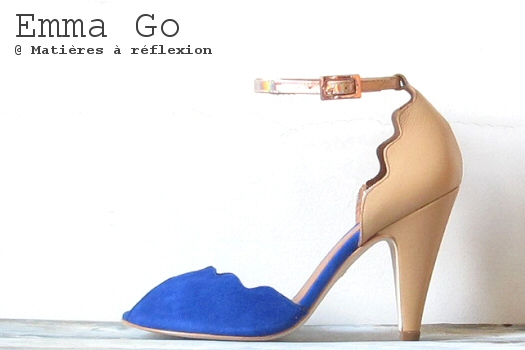 Soldes chaussures Escarpins bleu chair Emma Go Riona