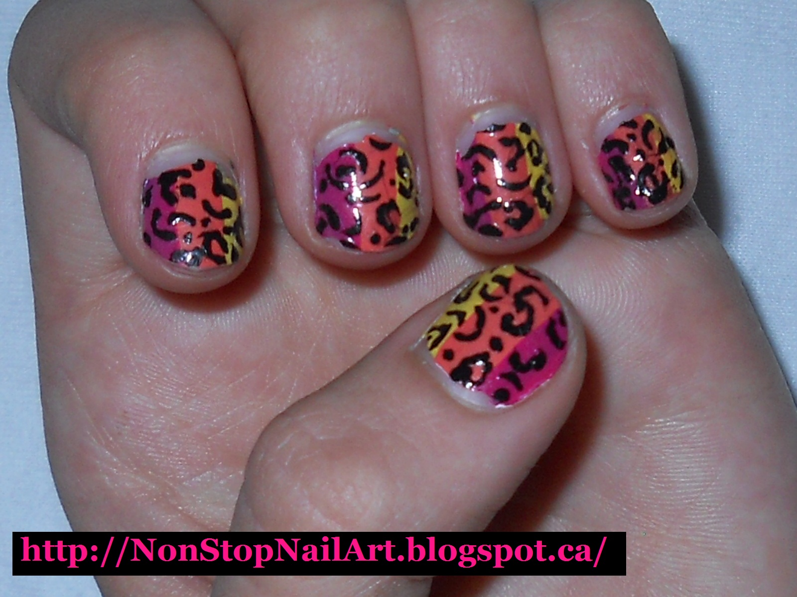 Non-Stop Nail Art: Cheetah print nails!