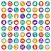 App icon set. flat Free Vector