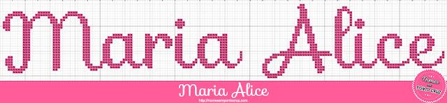 Nome Maria Alice em Ponto Cruz