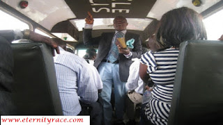 preaching the gospel inside public bus