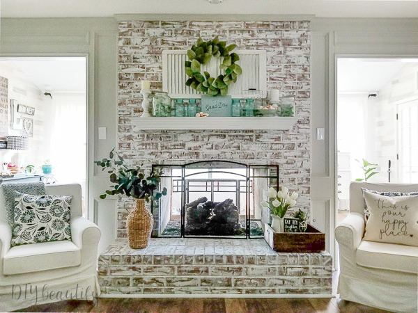 painted fireplace