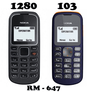 download Firmware Nokia 1280 atau 103 RM-647 BI