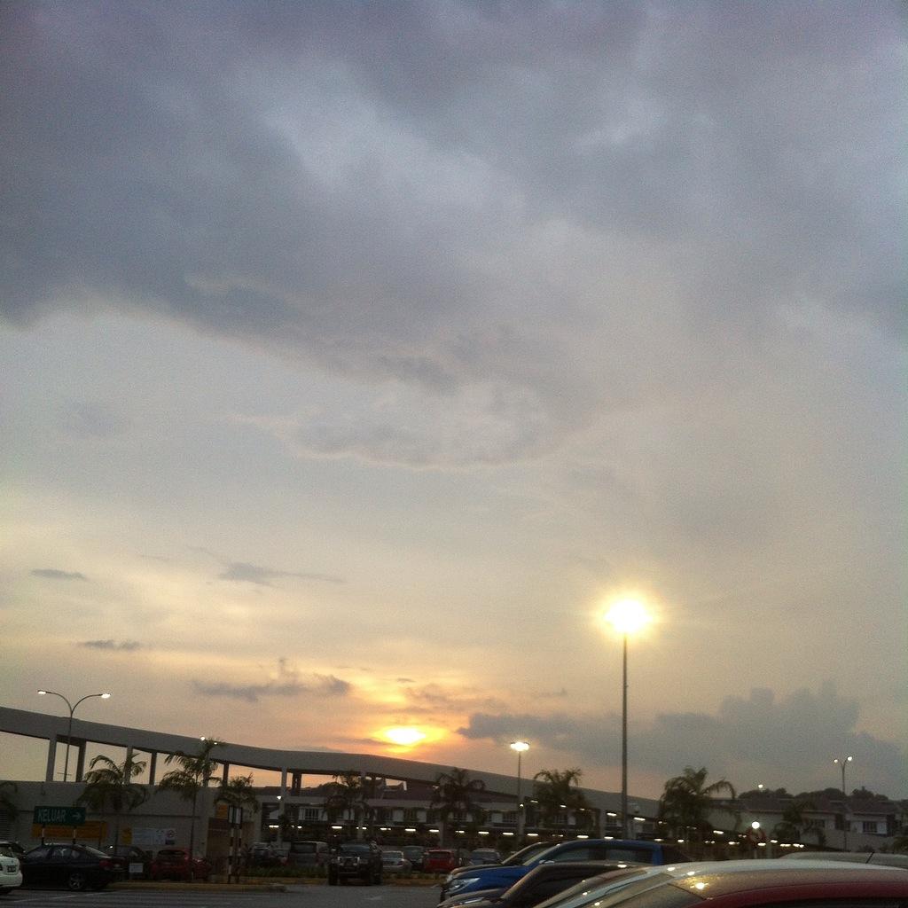 sunset, view