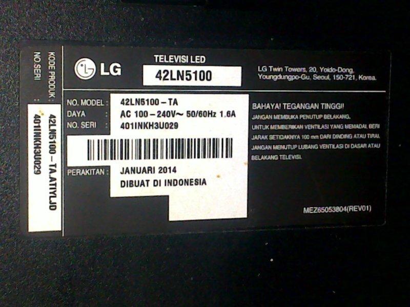 TV led LG layar redup dan bergetar dobel cukup dengan isolasi