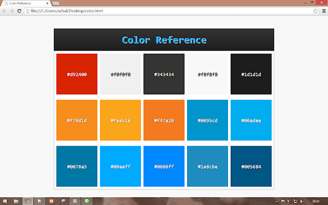 color reference html css