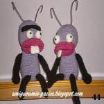 patron gratis hormiga amigurumi, free amiguru pattern ant