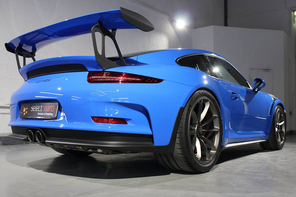 Weltweit Einmalig Porsche 911 Gt3 Rs In Voodoo Blau