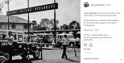 Lokasi Wisata Sejarah Kota Pekanbaru TAPAK HALTE TERMINAL LAMA BOOM BARU