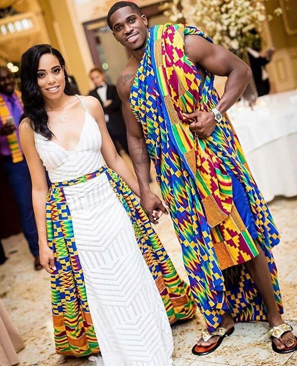 See couple's traditional wedding dress that got social media talking