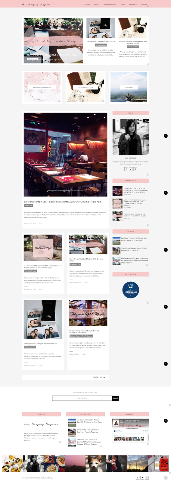 Pau Pursues Passion - Homepage | theme by Odd Themes