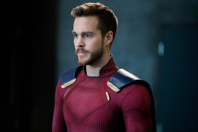 CW Supergirl 3x15 In Search of Lost Time Mon-El comic book accurate costume