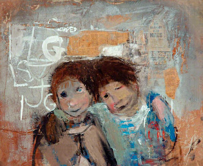 Children and Chalked Wall No.4, Joan Eardley